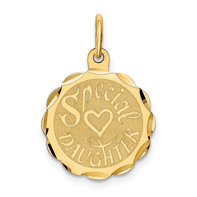 Quality Gold 14K SPECIAL DAUGHTER Charm