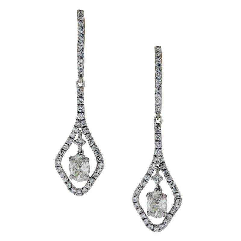 James Breski Suspended Diamond Dangle Earrings