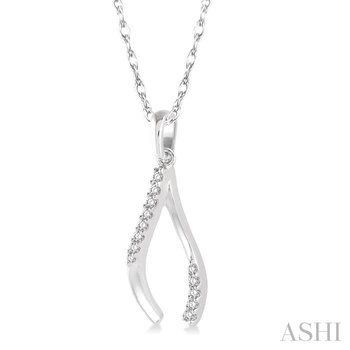 wishbone diamond pendant