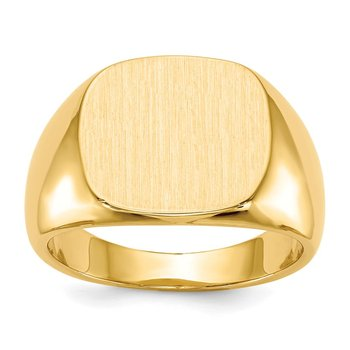 14k 13.5x15.0mm Closed Back Mens Signet Ring