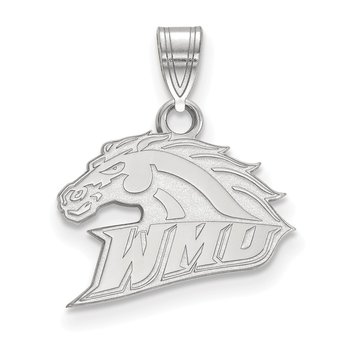 Sterling Silver Western Michigan University NCAA Pendant