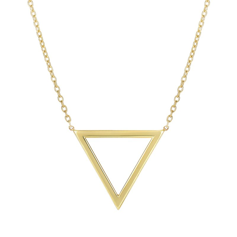 Royal Chain 14K Gold Triangle Necklace