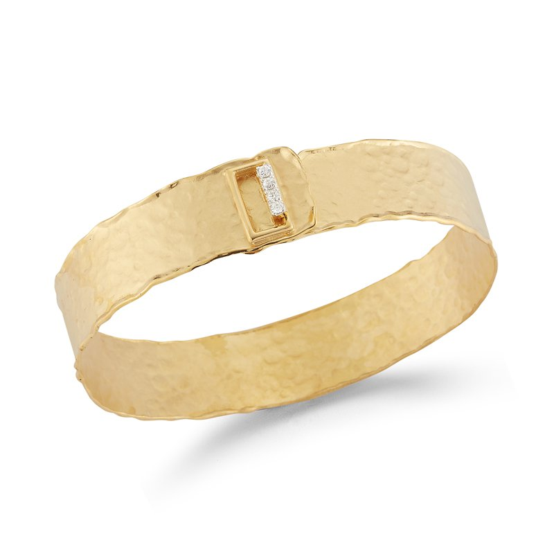 I. Reiss 14K-Y NARROW CUFF BR., 0.16CT