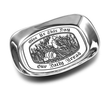 """Give us this Day"" Small Bread Tray"