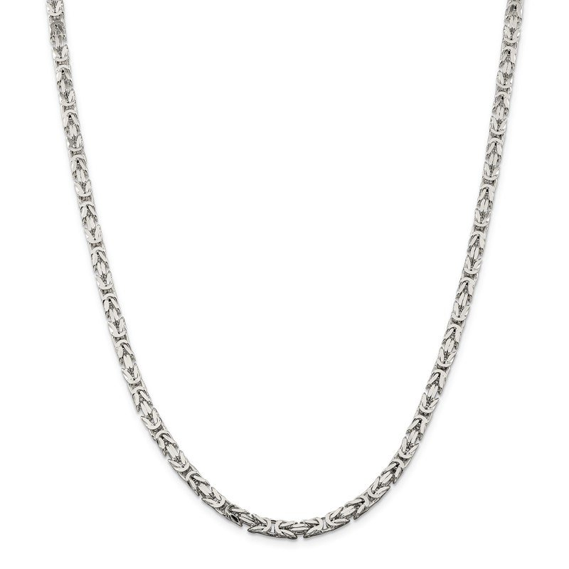 JC Sipe Essentials Sterling Silver 4.25mm Byzantine Chain
