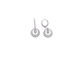 18KT WHITE GOLD DIAMOND DROP EARRINGS