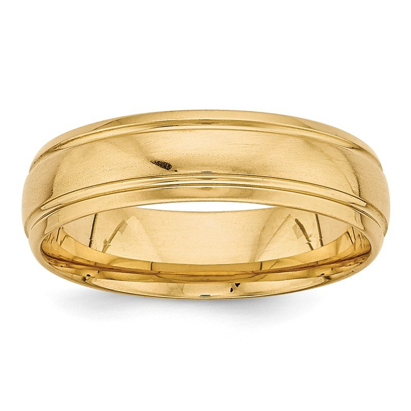 Lester Martin Online Collection 14k Yellow Gold Heavy Comfort Fit Fancy Band