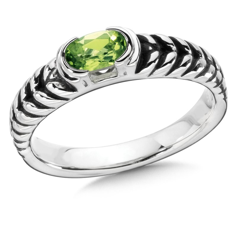Colore Sg Sterling Silver & Peridot Ring