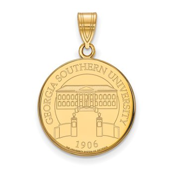 Gold-Plated Sterling Silver Georgia Southern University NCAA Pendant