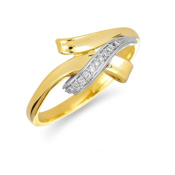 14K YW Diamond Fashion Ring
