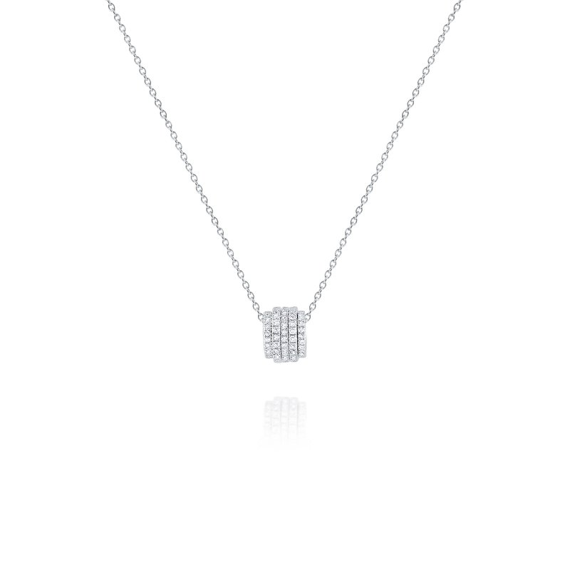 KC Designs Diamond Rolling Slider Pendant Set in 14 Kt. Gold