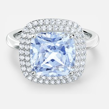 Angelic Ring, Blue, Rhodium plated
