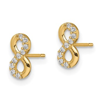 14k Madi K Infinity Symbol CZ Stud Earrings