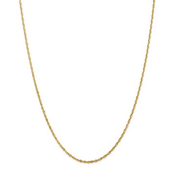 14k 2.0mm Extra-Light D/C Rope Chain