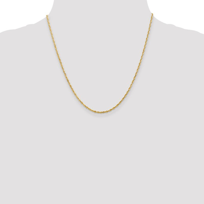 Quality Gold 14k 2.0mm Extra-Light D/C Rope Chain