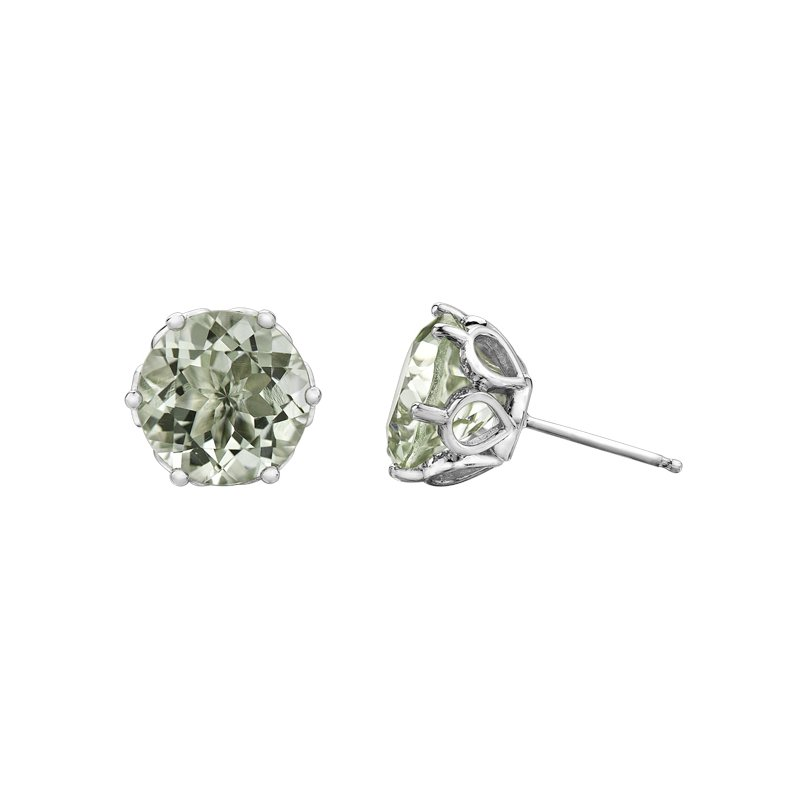 Timeless Beauty Green Amethyst Earrings