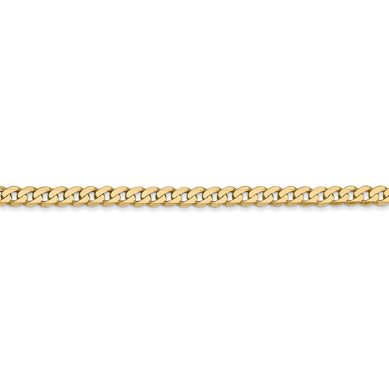 Leslie's Leslie's 14K 2.9mm Flat Beveled Curb Chain
