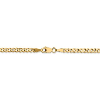 Leslie's 14K 2.9mm Flat Beveled Curb Chain