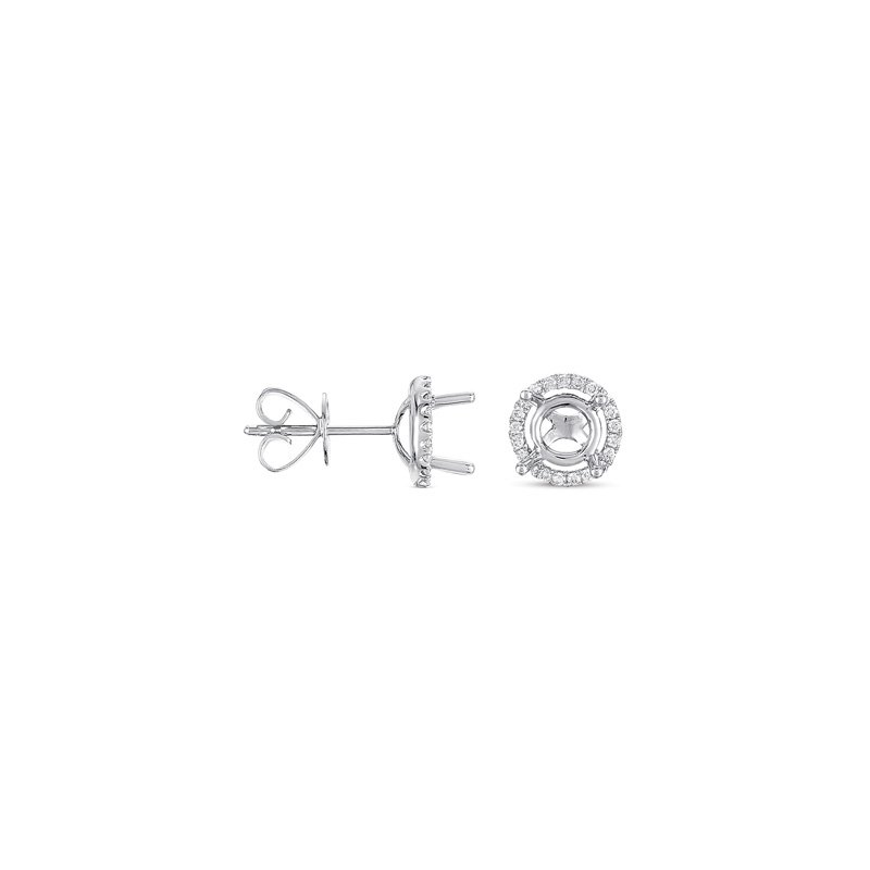 S. Kashi  & Sons Four Prong Earring Setting For 2.0ct tw