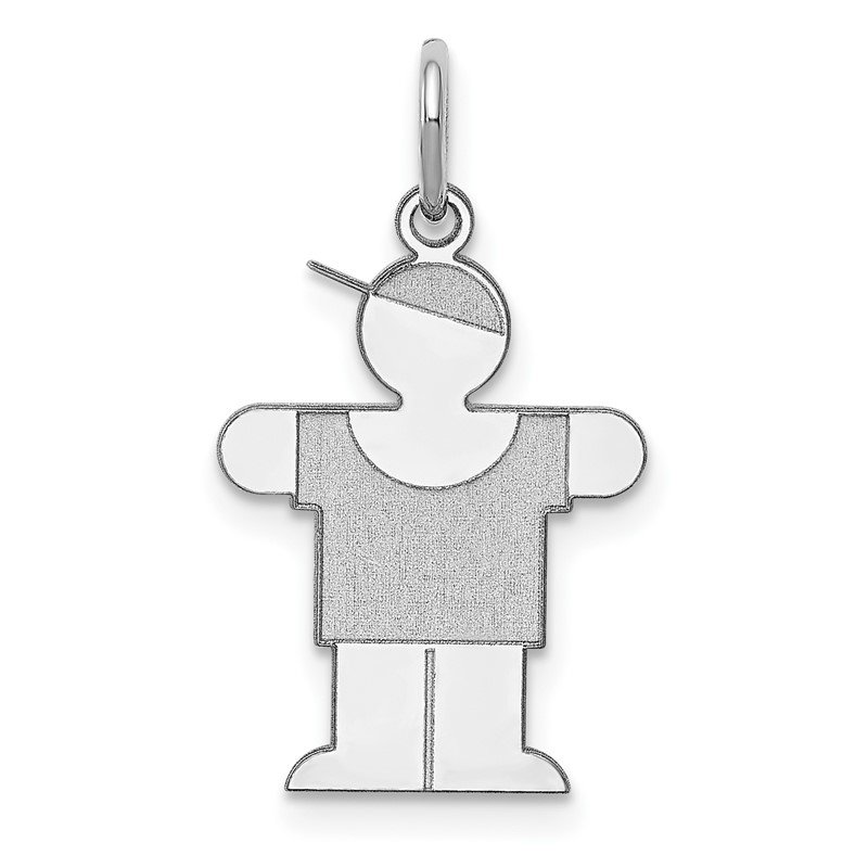 Quality Gold Sterling Silver Rhodium-plated Hugs Kid Charm