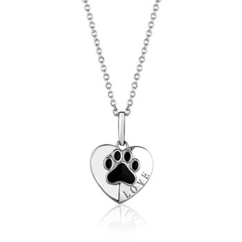 Dog Paw Heart Pendant