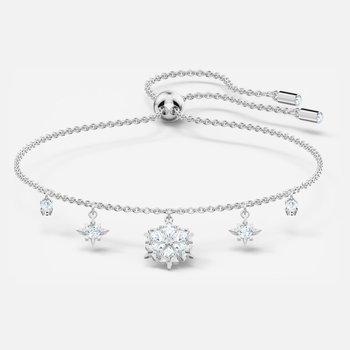 Magic Bracelet, White, Rhodium plated