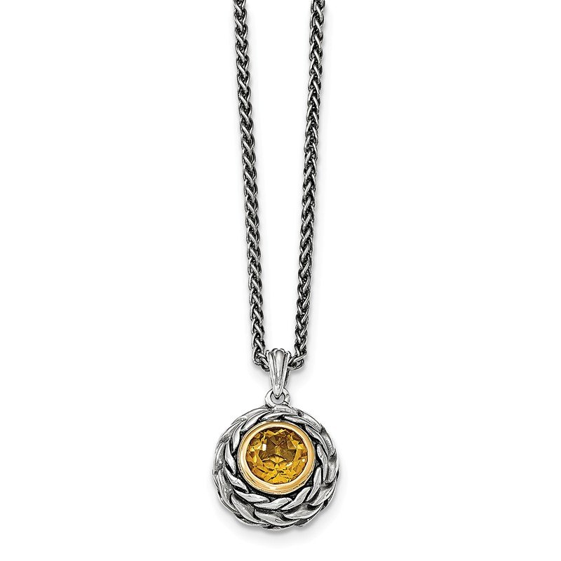 Shey Couture Sterling Silver w/14k Citrine Necklace