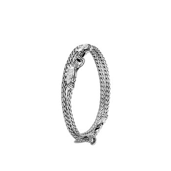Legends Naga 3.5MM Double Wrap Bracelet in Silver