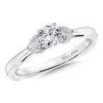 Valina Bridals Solitaire mounting .02 tw., 1/3 ct. round center.