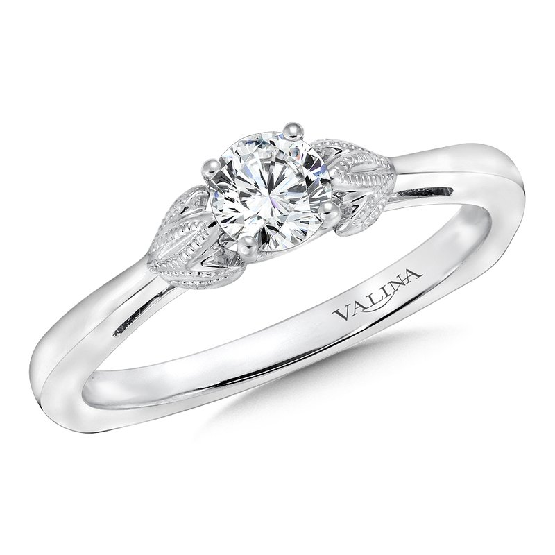 Valina Solitaire mounting .02 tw., 1/3 ct. round center.