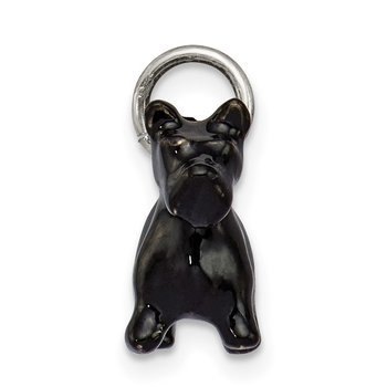 Sterling Silver Enameled Small Scottish Terrier Charm