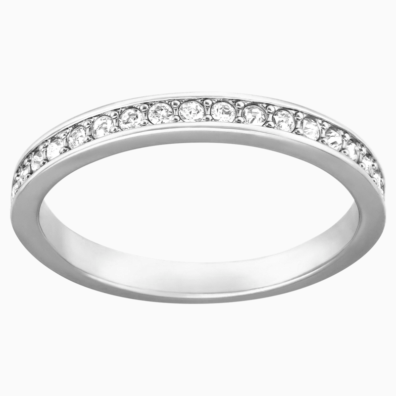 Swarovski Rare Ring, White, Rhodium plated