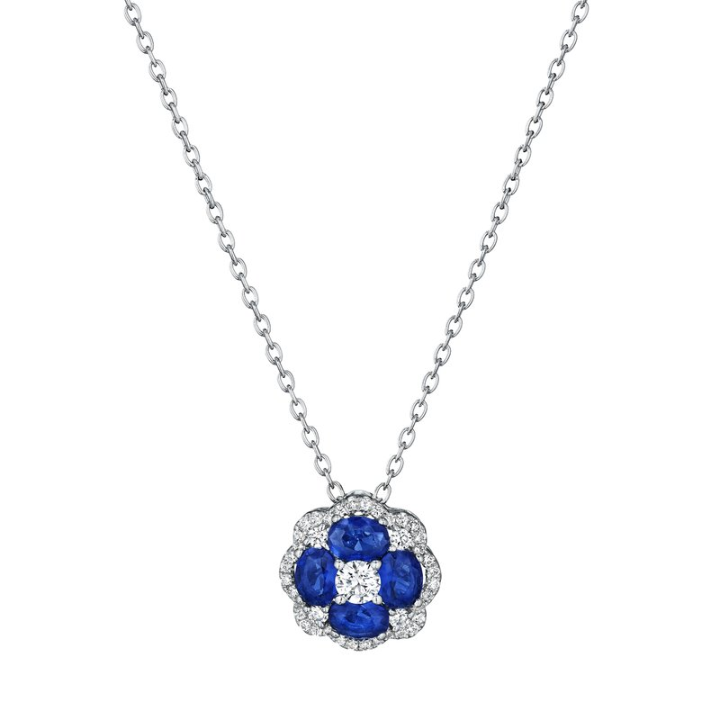 Fana All I Adore Sapphire and Diamond Cluster Pendant