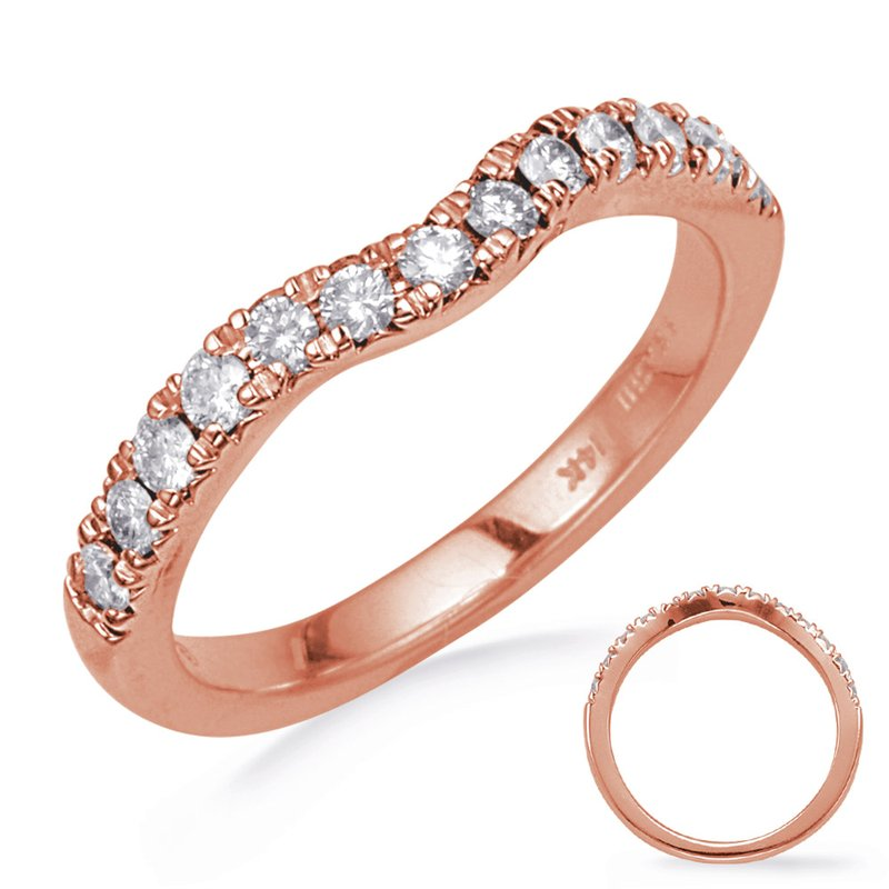 S. Kashi & Sons Bridal Rose Gold Diamond Wedding Band