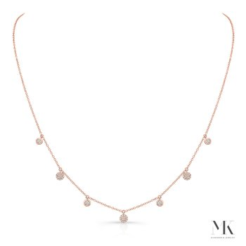 Rose Gold Dangling Disc Necklace