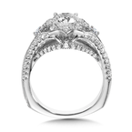 Valina Diamond Halo Engagement Ring Mounting in 14K White Gold (0.76 ct. tw.)
