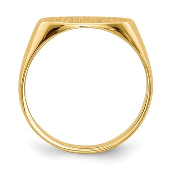 14k 6.5x12.0mm Closed Back Children's Signet Ring