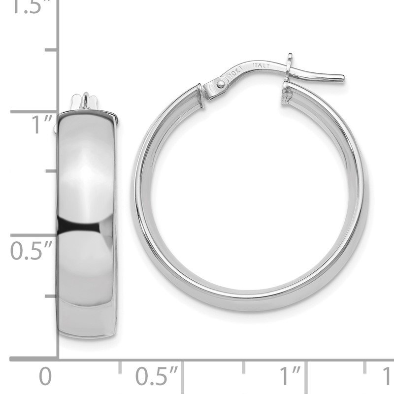 Leslie's Leslie's 10K White Gold Polished Hoop Earrings