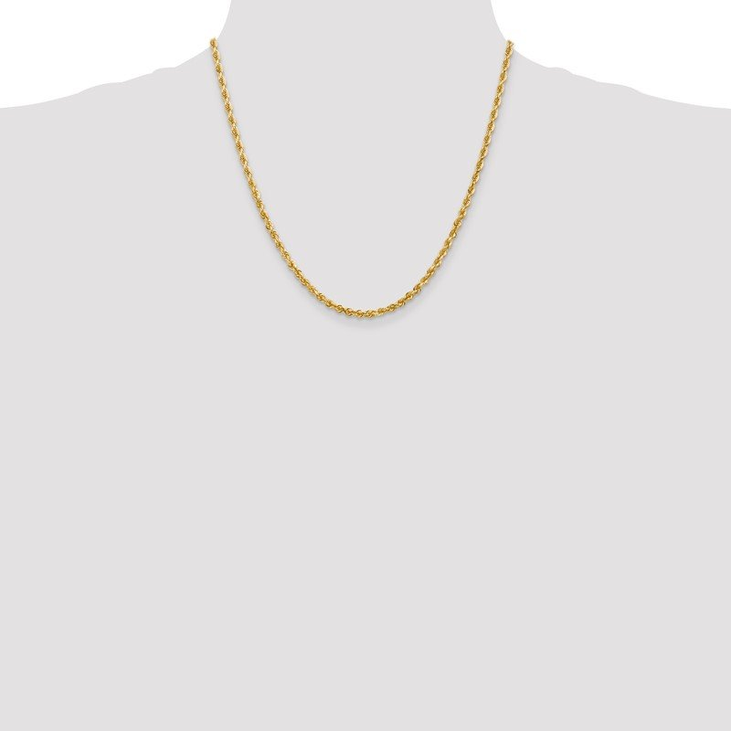 Quality Gold 14k 3.35mm D/C Quadruple Rope Chain