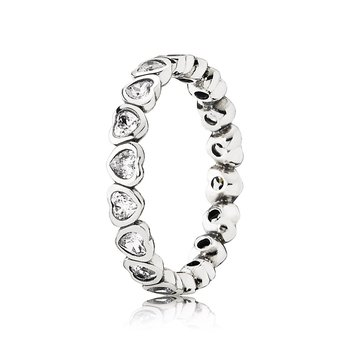 Forever More Stackable Ring, Clear CZ