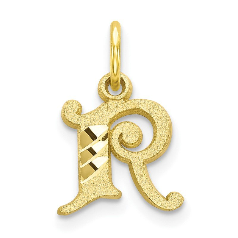 Quality Gold 10k Initial R Charm