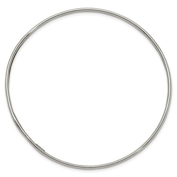 Sterling Silver 3.25mm Slip-on Bangle Bracelet