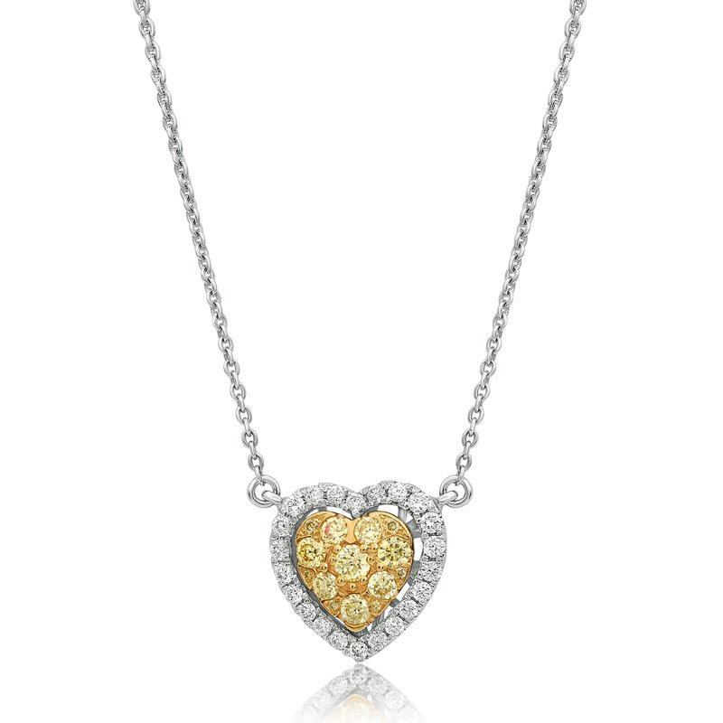 Roman & Jules Heartshaped Diamond Cluster Necklace