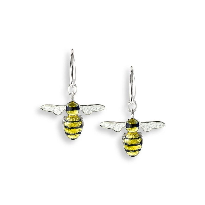 Nicole Barr Designs Yellow Bee Wire Earrings.Sterling Silver