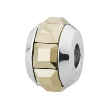 316L stainless steel and metallic light gold Swarovski® Elements crystals.