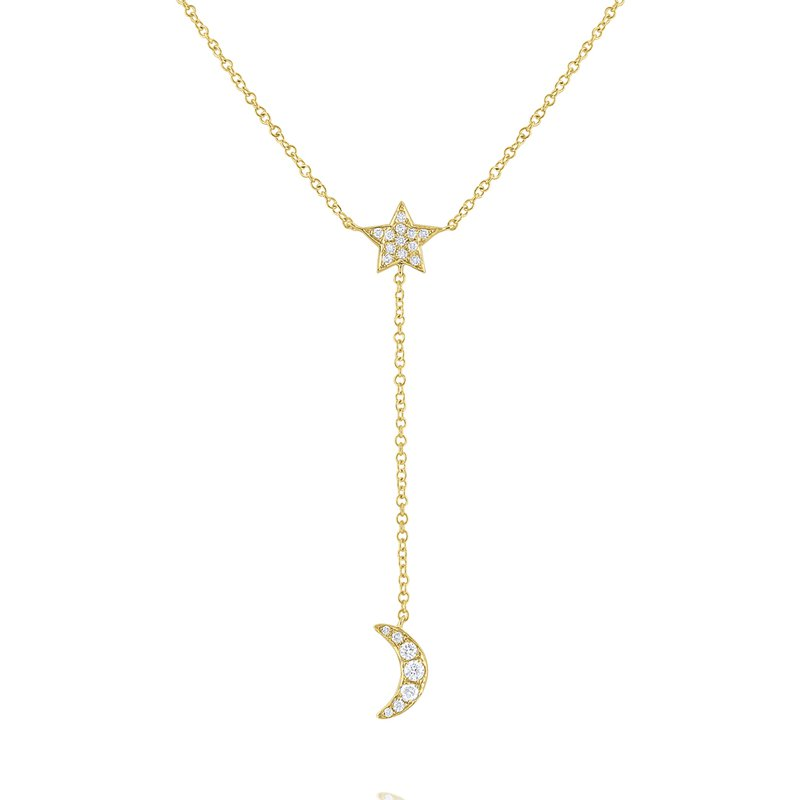 KC Designs Diamond Star & Moon Lariat Necklace Set in 14 Kt. Gold