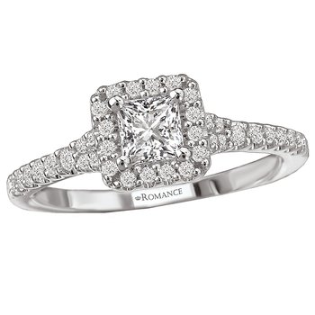 Diamond Engagement Ring w/ Center