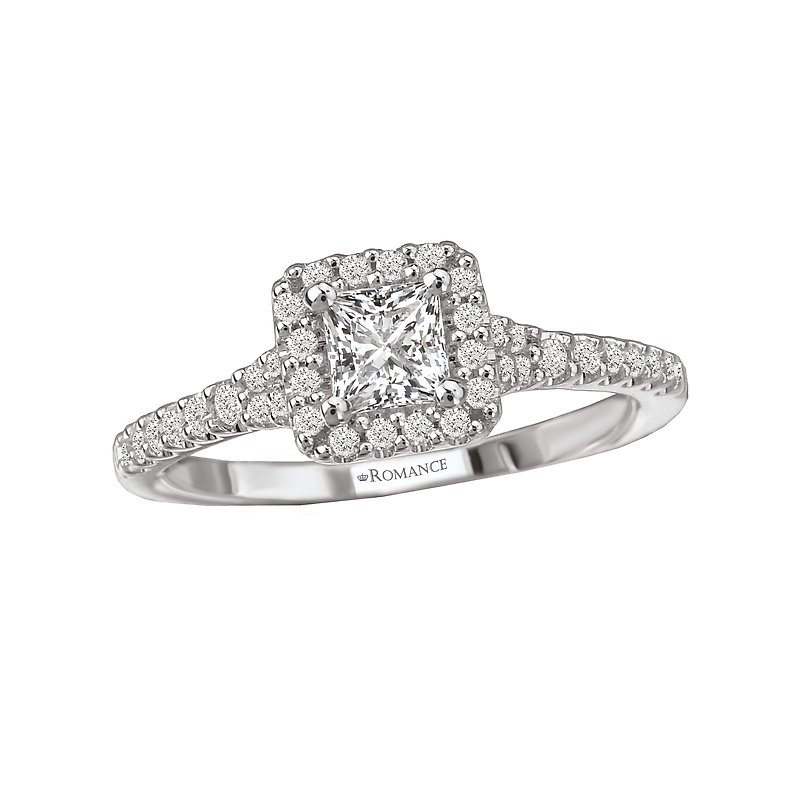 Romance Diamond Engagement Ring w/ Center