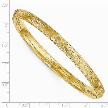 Leslie's 14k Diamond-Cut Bangle