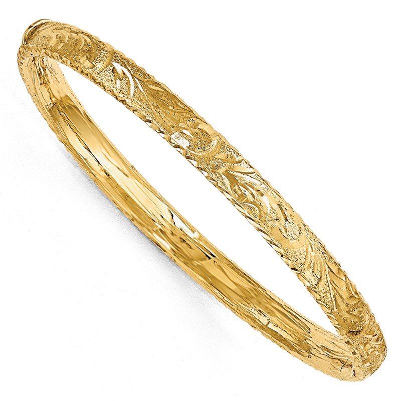 Leslie's Leslie's 14k Diamond-Cut Bangle